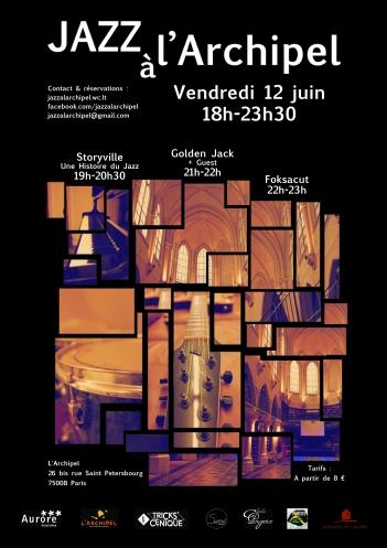 Affiche Jazz à l'Archipel