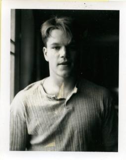 Matt Damon photographié par Gus Van Sant. Gus Van Sant, Polaroïds, 1983-1999 © Gus Van Sant